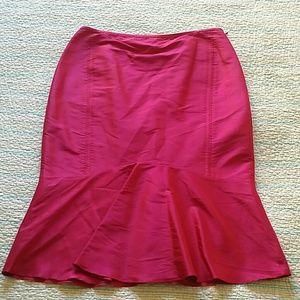 Lafayette 148 New York Dresses & Skirts - Lafayette 148 Pink Silk Satin Trumpet Skirt Sz 8