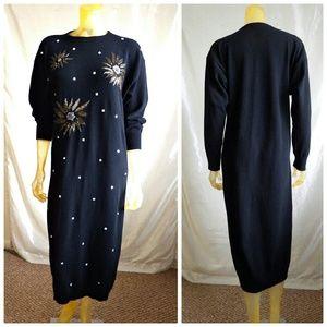 Pierre Cardin Dresses & Skirts - Vintage Pierre Cardin Beaded Lambswool Dress