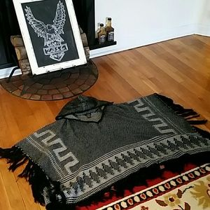 Aztec Pancho Sweater