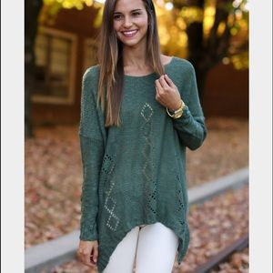 Sweaters - Season of life green sweater Red dress boutique