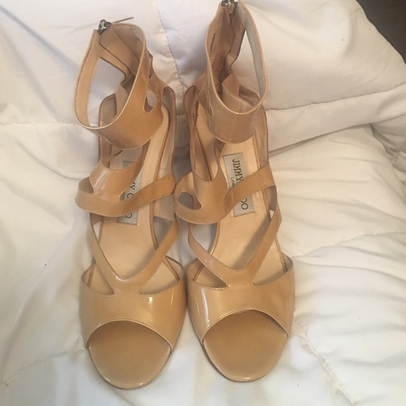 e0e267f12352 Jimmy Choo Shoes - Beautiful Jimmy Choo Nude Heels