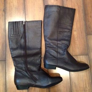 Shoes - Leather upper brown boot