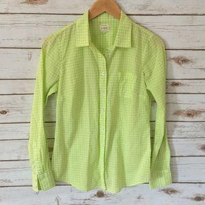J crew factory // citron & white perfect shirt-XS