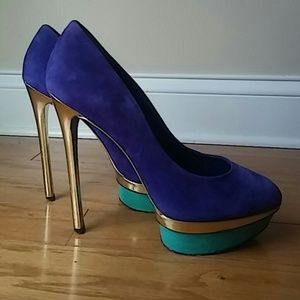 Brian Atwood Shoes - Brian atwood platform pump shoes 10 high heel