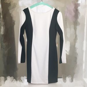 Bar III XS Black & White Dress
