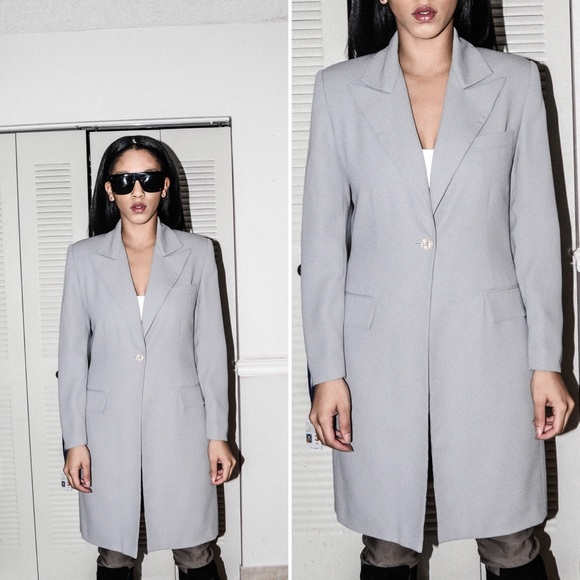 5d707c4db0 house of she Jackets   Blazers - Boss Babe Long Blazer Professional Blazer  in Grey