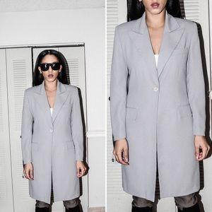 Jackets & Blazers - Grey Long Blazer