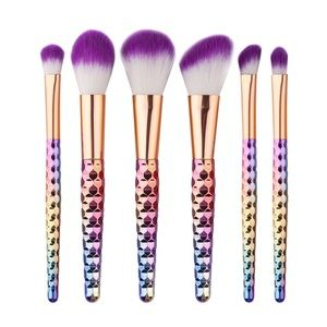 Other - 6 Pc Makeup Brush Set Rainbow Handle PRE-ORDER