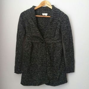 Sophie Max Sweaters - Wool Blend Button Collared Sweater Xs
