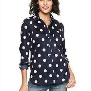 GAP Tops - GAP Polka Dot Tailored Shirt