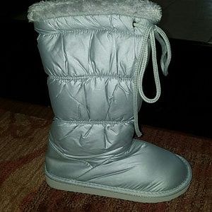 fantastic savings pretty cheap best deals on Boutique Shoes | Final Price New In Package Silver Flat Boots ...