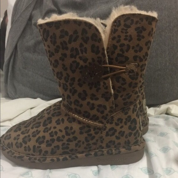 f43b63ea89df BearPaw Shoes | Bear Paw Leopard Boots | Poshmark