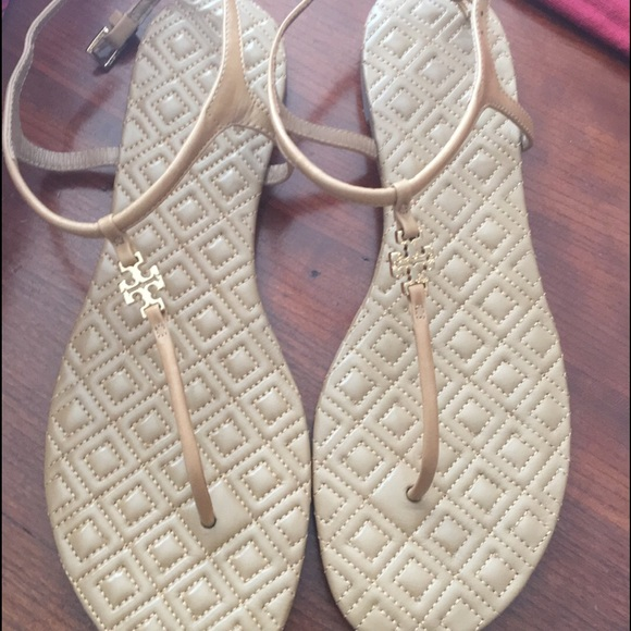 3b0bc0e73 Tory Burch Marion Quilted Sandal women s 9 - sand.  M 584afc612ba50aa2d20302c0