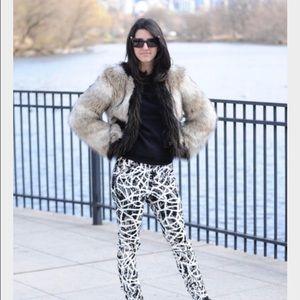 Lanvin x H&M faux fur coat