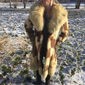 Vintage real fur coat