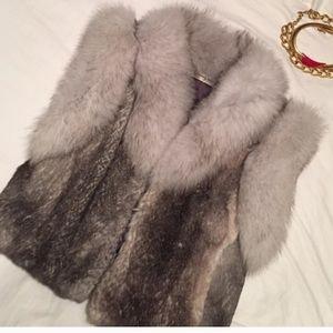 Real 🐰 rabbit fur Vest Sz XS