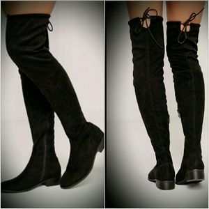 Missguided Shoes - 🎉HP🎉 MISSGUIDED OVER KNEE BOOTS FLAT THIGH HIGH