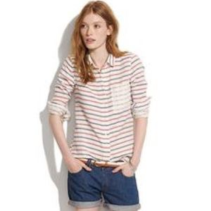 Madewell Stripe-dot boy shirt