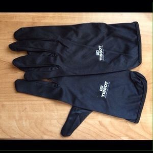 Tissot Other - TISSOT Black Gloves