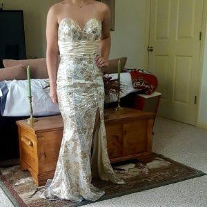 Vintage Cire a Division of Landa sequin gown 0