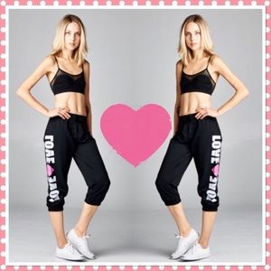 🎉HP🎉. Black (LOVE) Joggers
