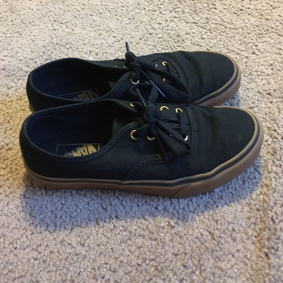 Vans Shoes - Authentic black rubber Vans f1d3de0263