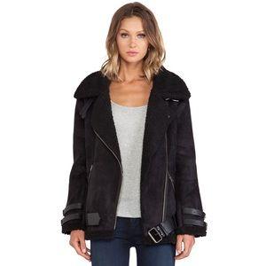 J.O.A. Jackets & Blazers - J.O.A. Faux Shearling Biker/Moto Jacket