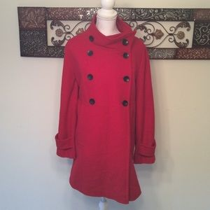 trilogi Jackets & Blazers - 💥CLEARENCE💥 Red Pea Coat