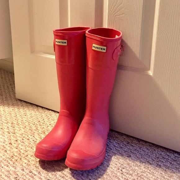 19% off Hunter Shoes - Hunter Rain Boots girl size 4/size 6-6.5 ...