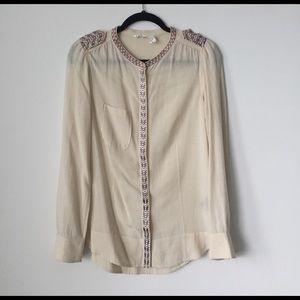 ISABEL MARANT ETOILE Embroidered Blouse. SIZE 38
