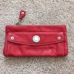 Gap Red Leather Mini Clutch