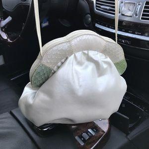 Handbags - Bass by Supreme leather bag w/snake skins