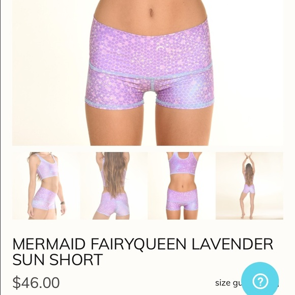 1b97fb751d ALO Yoga Pants | Xs Teeki Mermaid Fairyqueen Lavender Sun Short ...