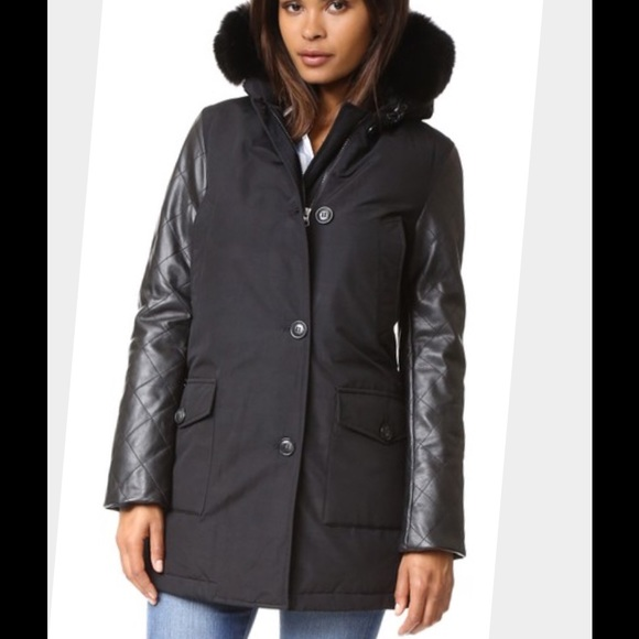 35% off Woolrich Jackets & Blazers - Woolrich leather-Trim Arctic ...