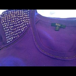 Reba Tops - Purple Reba Knit Top