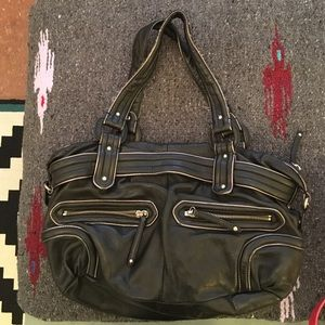 Cole Haan black leather bag