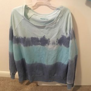 La Mouette Sweaters - Name brand mouchette blue Tie dye sweater only 5$