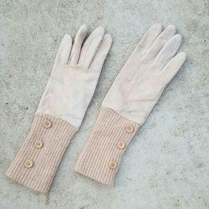 Suede/wool gloves