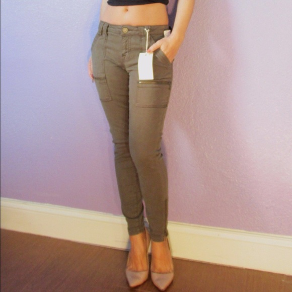 de3aebc0aed9 JOIE fatigue park skinny pants ankle zip SEXY