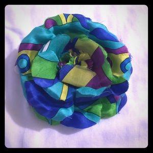 Echo Accessories - jewel tone flower pin/hair band