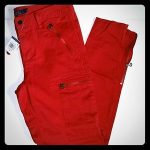 1d47d398 Polo by Ralph Lauren Pants - Polo Ralph Lauren women skinny cargo pants red