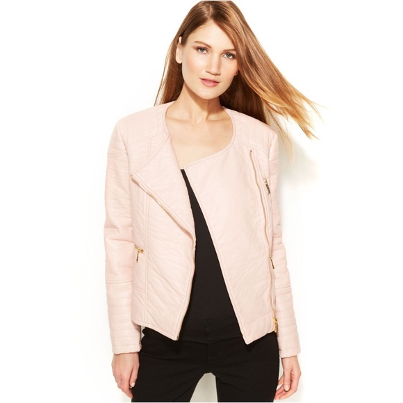 Calvin Klein Jackets & Coats - Blush Pink Faux Leather Jacket