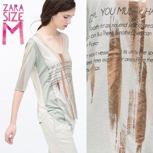 Zara Tops - Zara tee / top size M measurements