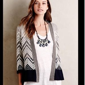 Chevron Stripe Cardi by Moth