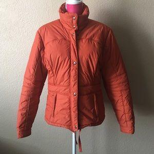 Lilu Jackets & Blazers - Orange Puffer Coat