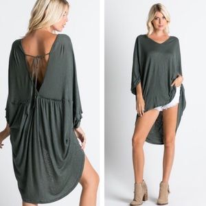 clmayfae Tops - *LAST1* High Low Tie-Back Tunic