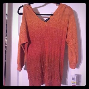 INC COLD SHOULDER SWEATER