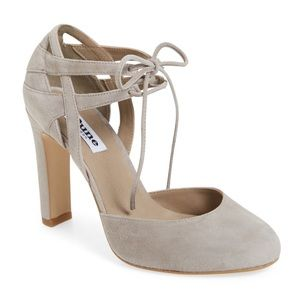 Dune London Shoes - Dune 'cannes' Lace Up d'Orsay Gray Pump