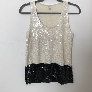 JCrew sequin tank Sz XS