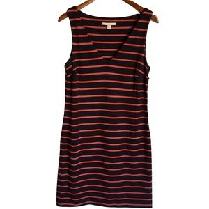 Banana Republic Navy & Red Striped Knit Dress